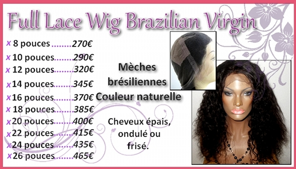 lace wig meches bresiliennes