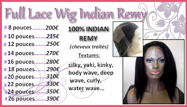 lace wig indian remy