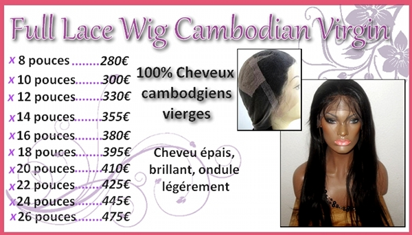 lace wig cambodgiennes